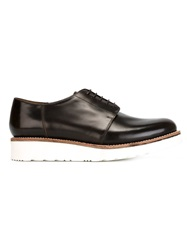 Grenson Wedge Sole Derby Shoes Brown