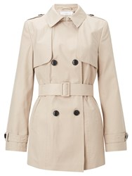 John Lewis Short Trench Coat Stone