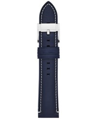 Fossil Men's Navy Blue Leather Watch Strap 22Mm S221255