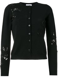 Moschino Sequin Embellished Cardigan Black