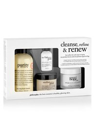 Philosophy Cleanse Refine And Renew Kit 110.00 Value No Color