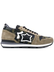 Atlantic Stars Sirius Sneakers Men Leather Suede Polyester Rubber 44 Green