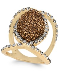 Inc International Concepts Gold Tone Mixed Crystal Statement Ring Only At Macy's