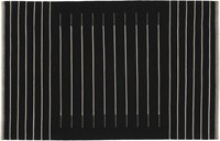 Cb2 Black With White Stripe Rug 6'X9'