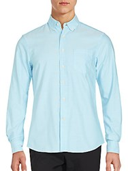 Slate And Stone Solid Long Sleeve Shirt Light Blue