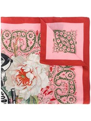 Mr And Mrs Italy Printed Scarf Pink