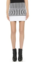 Antonio Berardi Knit Skirt Black White