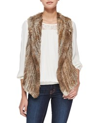 Joie Andoni Rabbit Fur Vest Grey Natural