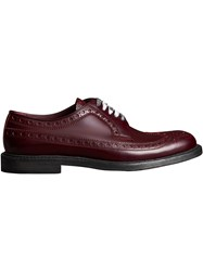 Burberry Leather Brogues With Painted Laces Red
