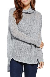 Women's Two By Vince Camuto Metallic Knit Turtleneck
