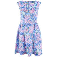 Almari Sea Floral Scuba Dress Multi