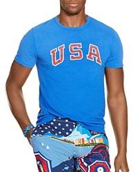 Polo Ralph Lauren Team Usa Vintage Graphic Slim Fit Tee Rugby Roya