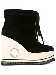 Paloma Barcelo Betera Costa Rica Wedge Boots Black