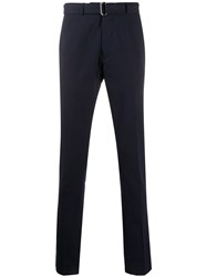 Officine Generale Slim Fit Trousers Blue