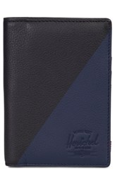 Herschel Supply Co. Raynor Offset Leather Wallet Black