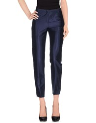 Irma Bignami Trousers Casual Trousers Women Dark Blue