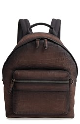 Salvatore Ferragamo Firenze Leather Backpack Brown