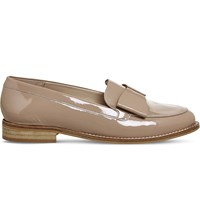 Office Present Bow Patent Leather Loafers Nude Patent Leather