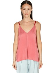 Forte Forte Envers Satin Crepe Camisole Top Pink