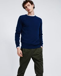 Aspesi Cashmere Roundneck Sweater Blue