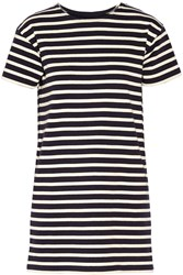 Nlst True T Striped Cotton Mini Dress Blue