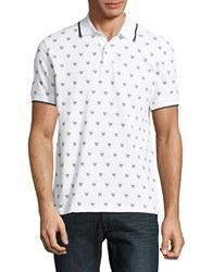 Markus Lupfer Skull Patterned Polo White Black