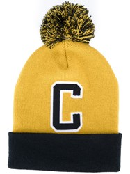 Carhartt 'C' Beanie Hat Yellow And Orange