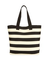 San Diego Hat Company Wide Striped Tote Bag Black