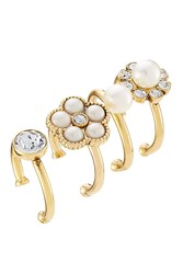 Marc Jacobs Cabochon Midi Ring Set Gold