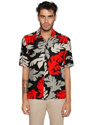 Diesel Leaves Printed Viscose Twill Shirt