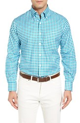 Peter Millar Men's Port Oxford Regular Fit Check Sport Shirt