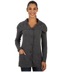 Royal Robbins Three Season Cardi Charcoal Women's Sweater Gray