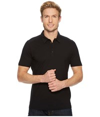 Nau Short Sleeve Basis Polo Caviar Short Sleeve Knit Black