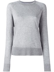 Dkny Raglan Jumper Grey