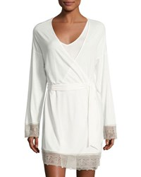 Cosabella Bacall Long Sleeve Robe Ivory
