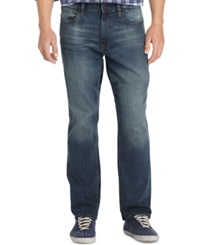Izod Comfort Relaxed Fit Five Pocket Jeans Lexington Wash