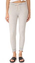 Pam And Gela Uneven Sweatpants Heather Grey