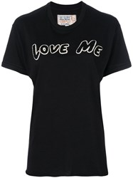 Sandrine Rose Love Me T Shirt Cotton S Black
