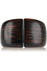 Kenneth Jay Lane Faux Wood Bangle Brown