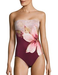 Carmen Marc Valvo Gilded Garden One Piece Swimsuit