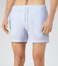 Reiss Seaside Mens Striped Swim Shorts In Blue