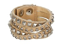 Leather Rock B340 Beige Bracelet