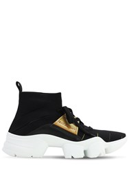 Givenchy Jaw Sock Sneakers W Leather Details Black