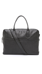 Ben Minkoff Pebbled Leather Fulton Briefcase Black