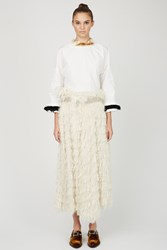 Toga Archives Cut Jacquard Skirts White