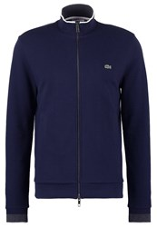 Lacoste Cardigan Navy Blue Dark Grey Jaspe Flour Dark Blue