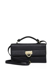Salvatore Ferragamo Ably Saffiano Leather Crossbody Black