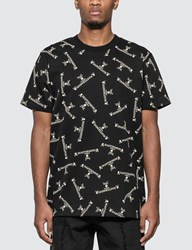 Mastermind World All Over Logo Print T Shirt Black