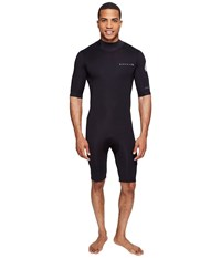 Rip Curl Aggrolite 2Mm B Zip Spring Suit Black Men's Wetsuits One Piece