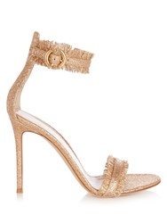 Gianvito Rossi Portofino Glitter Sandals Rose Gold
